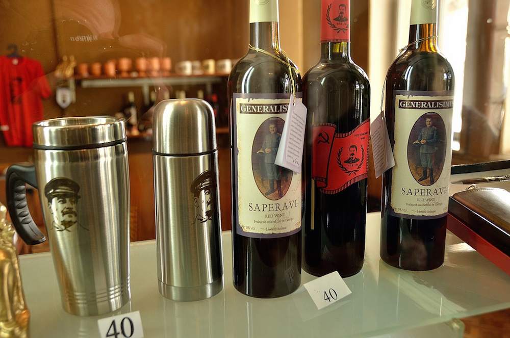 Inside the gift shop of the Stalin Museum. Image: babakoto.eu.