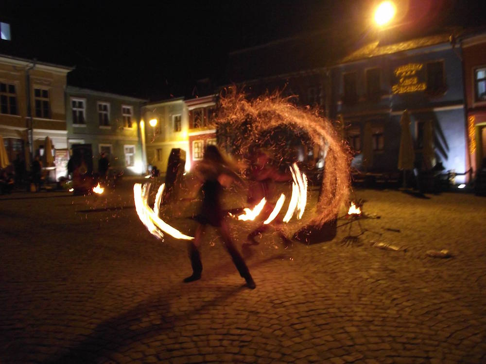 Fire show as part of the <em>Transylvania Live</em> tour