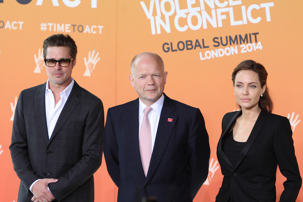 Brangelina with UK Foreign Secretary William Hague in 2014. Image: FCO under a CC licence