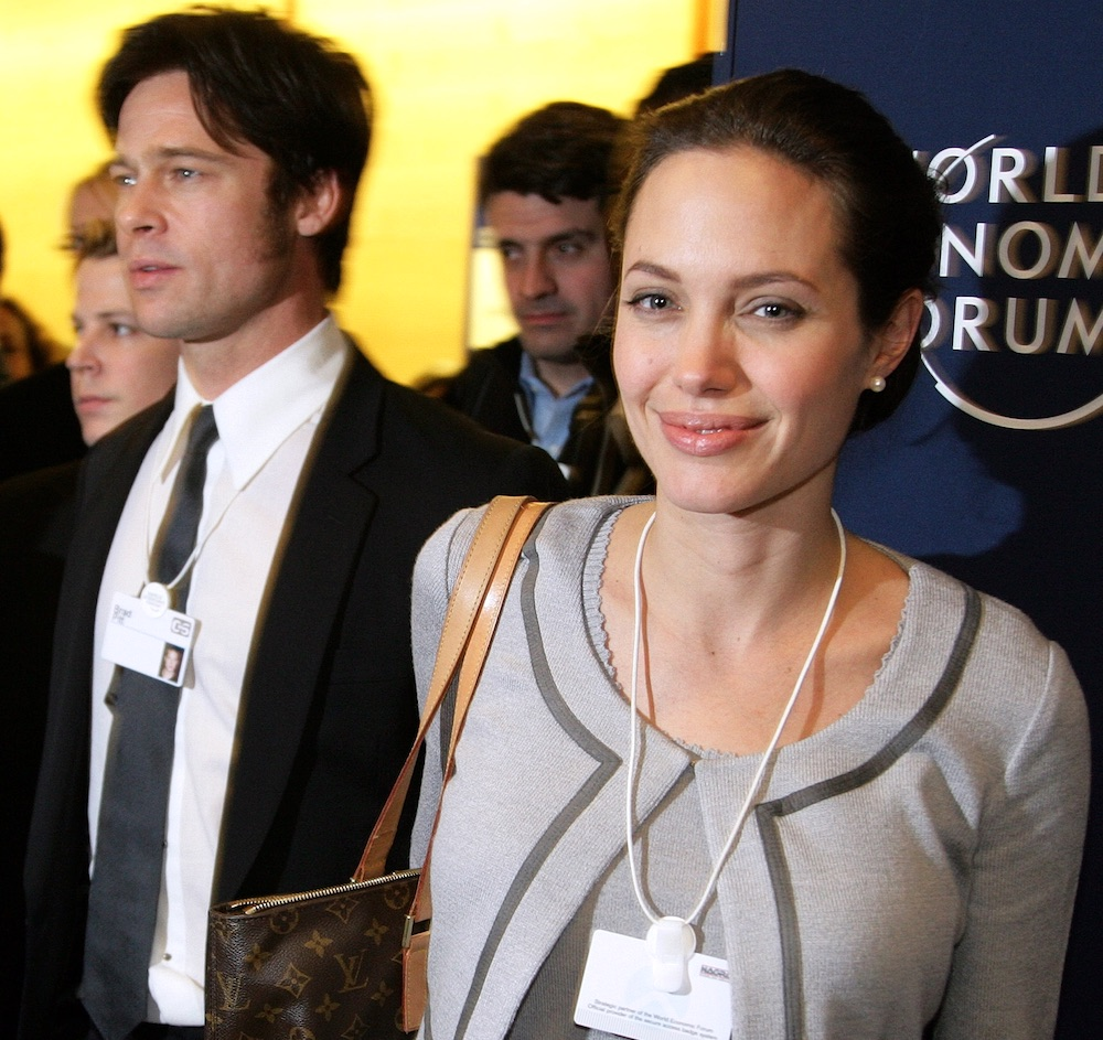 Brangelina attend the World Economic Forum in Davos, 2006. Image: WEF under a CC licence