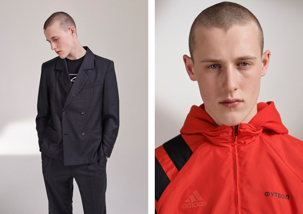 From Gosha Rubchinskiy's FW 17 lookbook