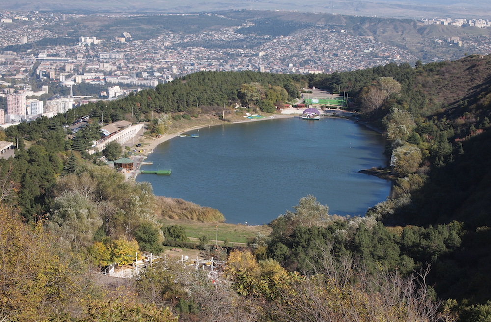 Turtle Lake looks out over the Georgian capital. Image: DDohler under a CC licence