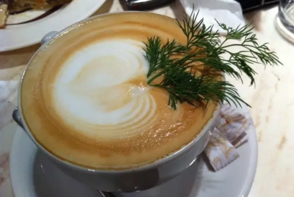 Fancy some dill with your cappuccino? Image: Emmanuel Leus/DILLWATCH/Twitter