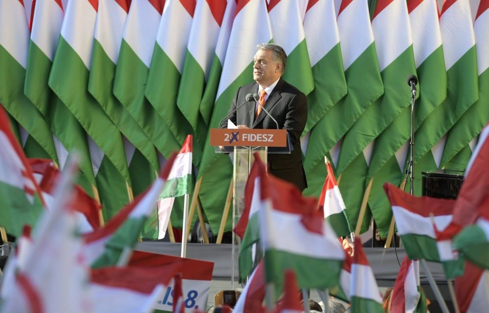 Orbán during the 2018 election campaign. Image: MTI