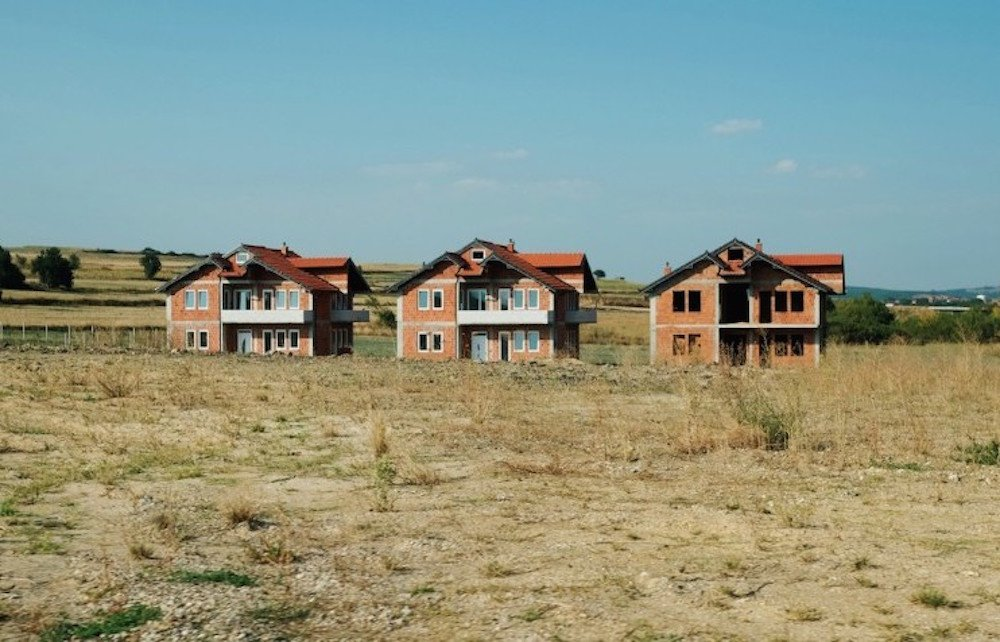 Houses in rural Kosovo