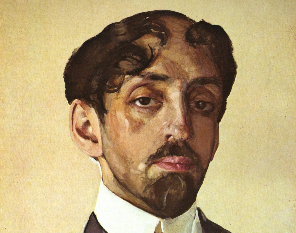 Portrait of Mikhail Kuzmin by Konstantin Somov (1909)
