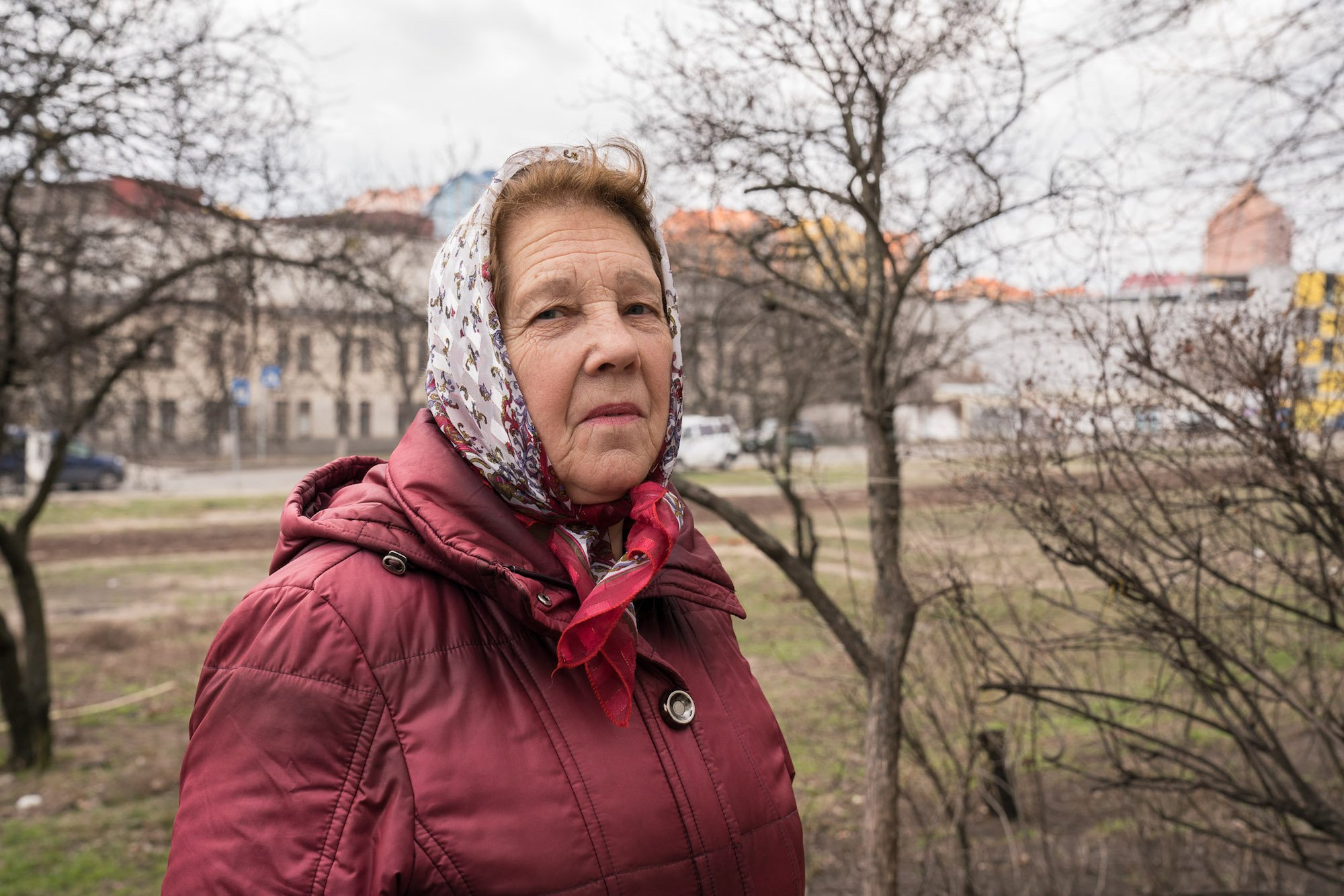 Maria, 76, is retired and lives in a krushchevska overlooking Comfort Town