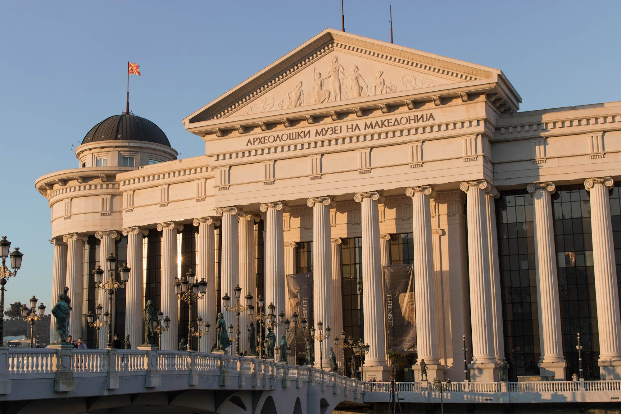 The Museum of Archaeology, an example of Skopje 2014's Neoclassicism. Image: Liza Premiyak
