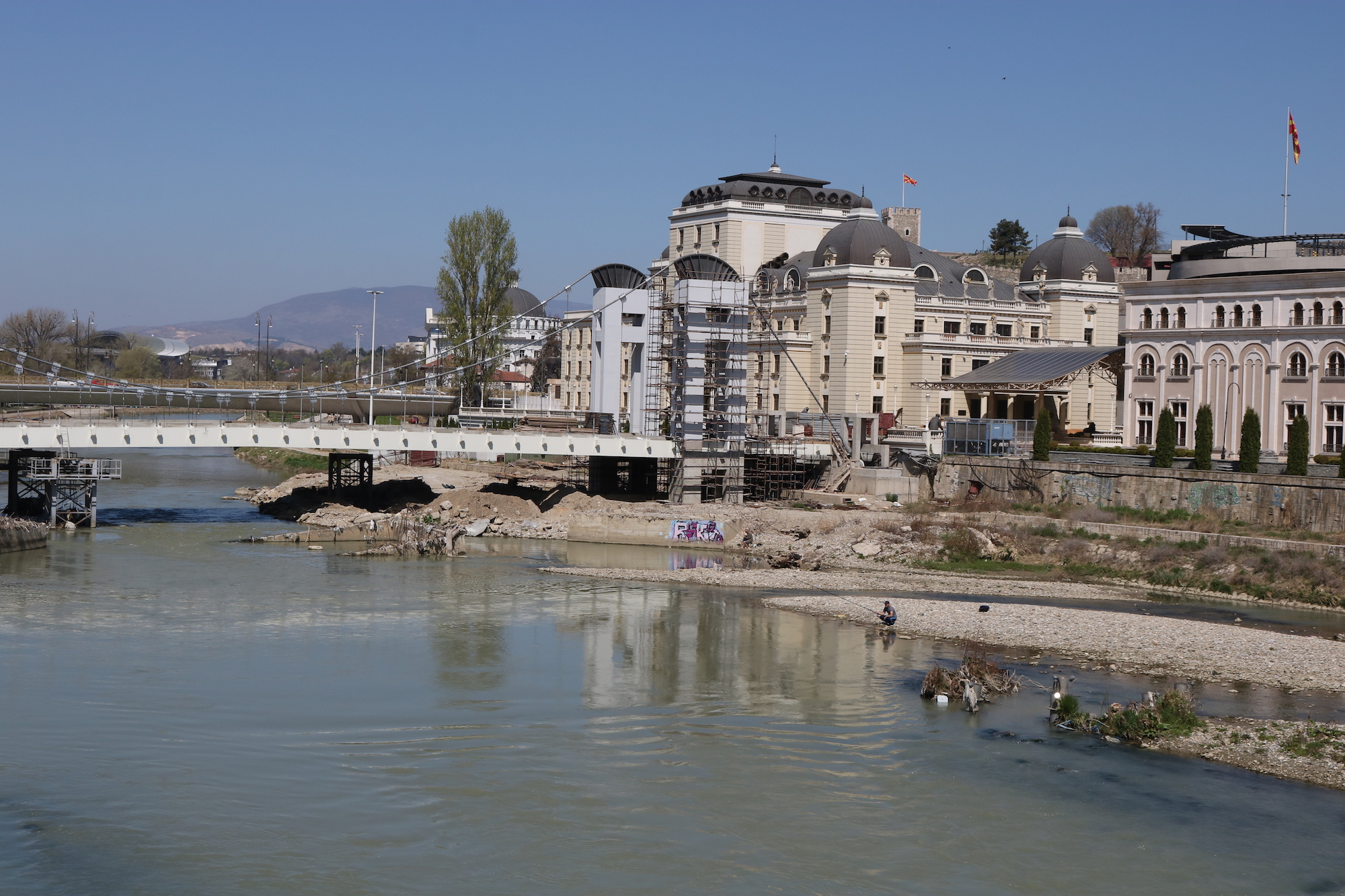 Much of the Skopje 2014 project remains unfinished. Image: Liza Premiyak