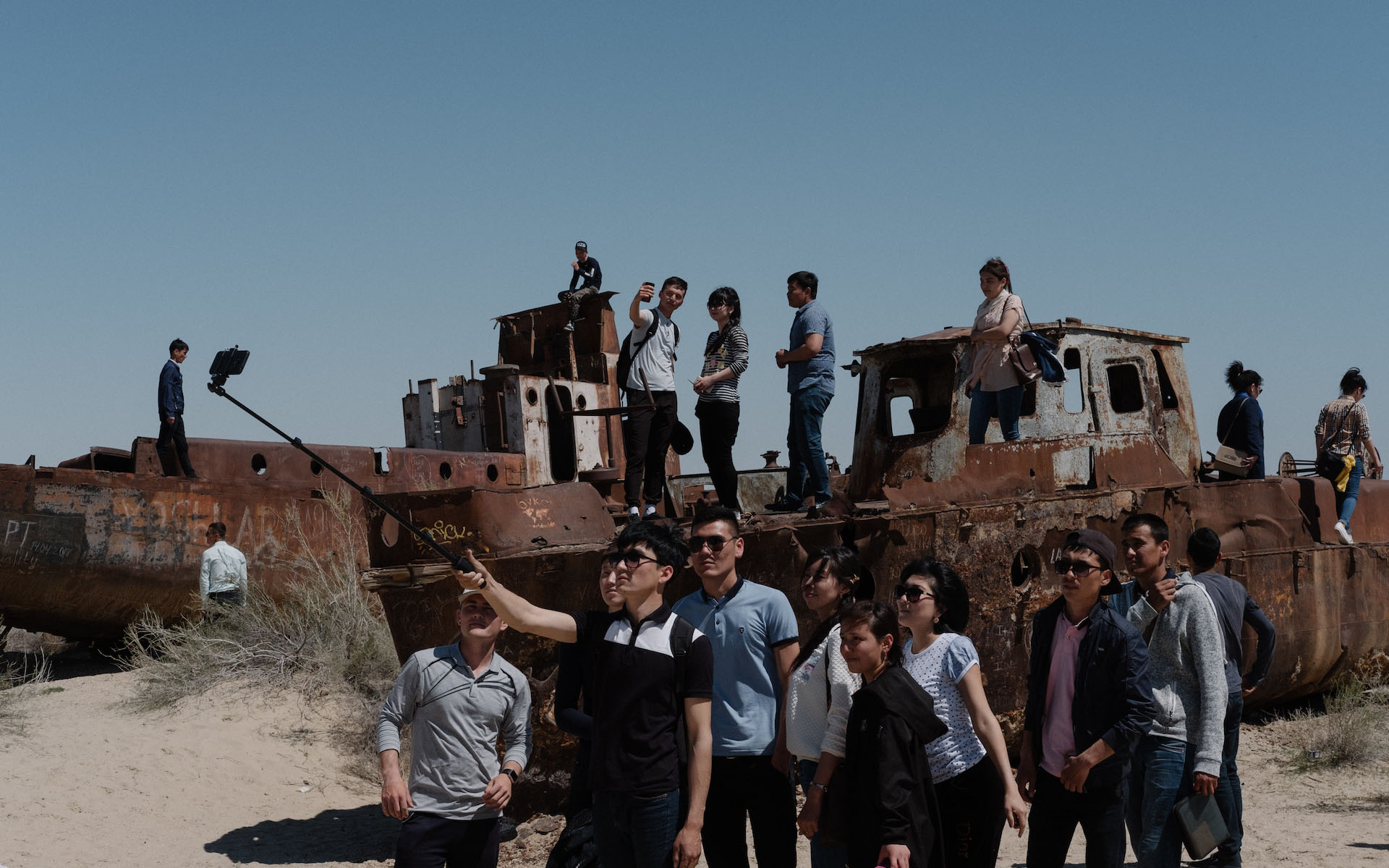 Selfie sticks at the Aral Sea: another example of disaster tourism's self-indulgence?