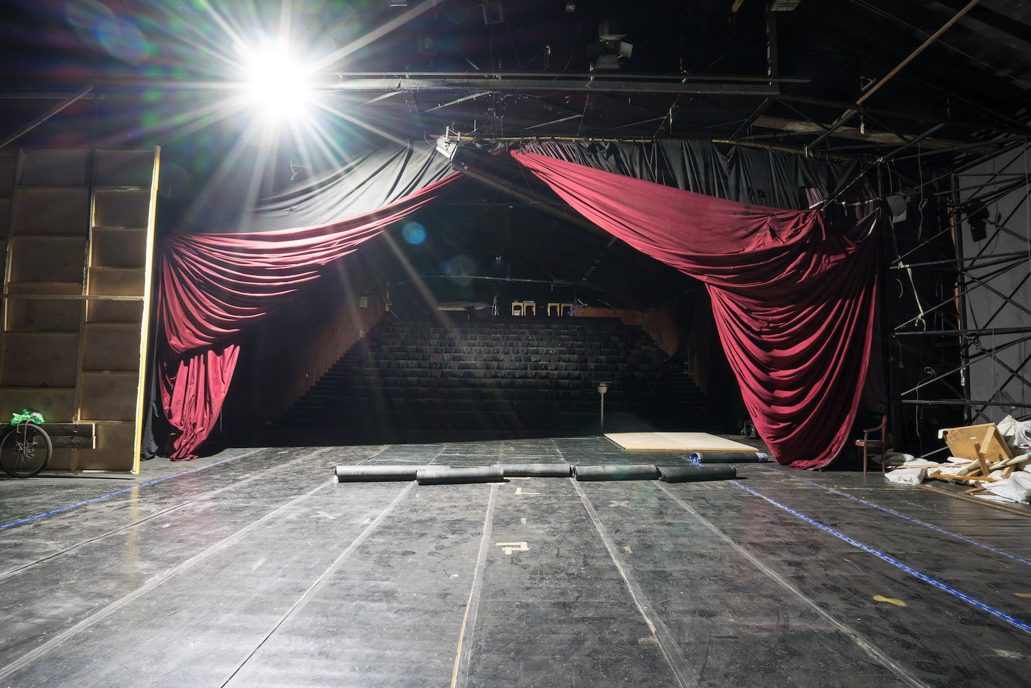 The stage at KPGT now lies dormant for months at a time