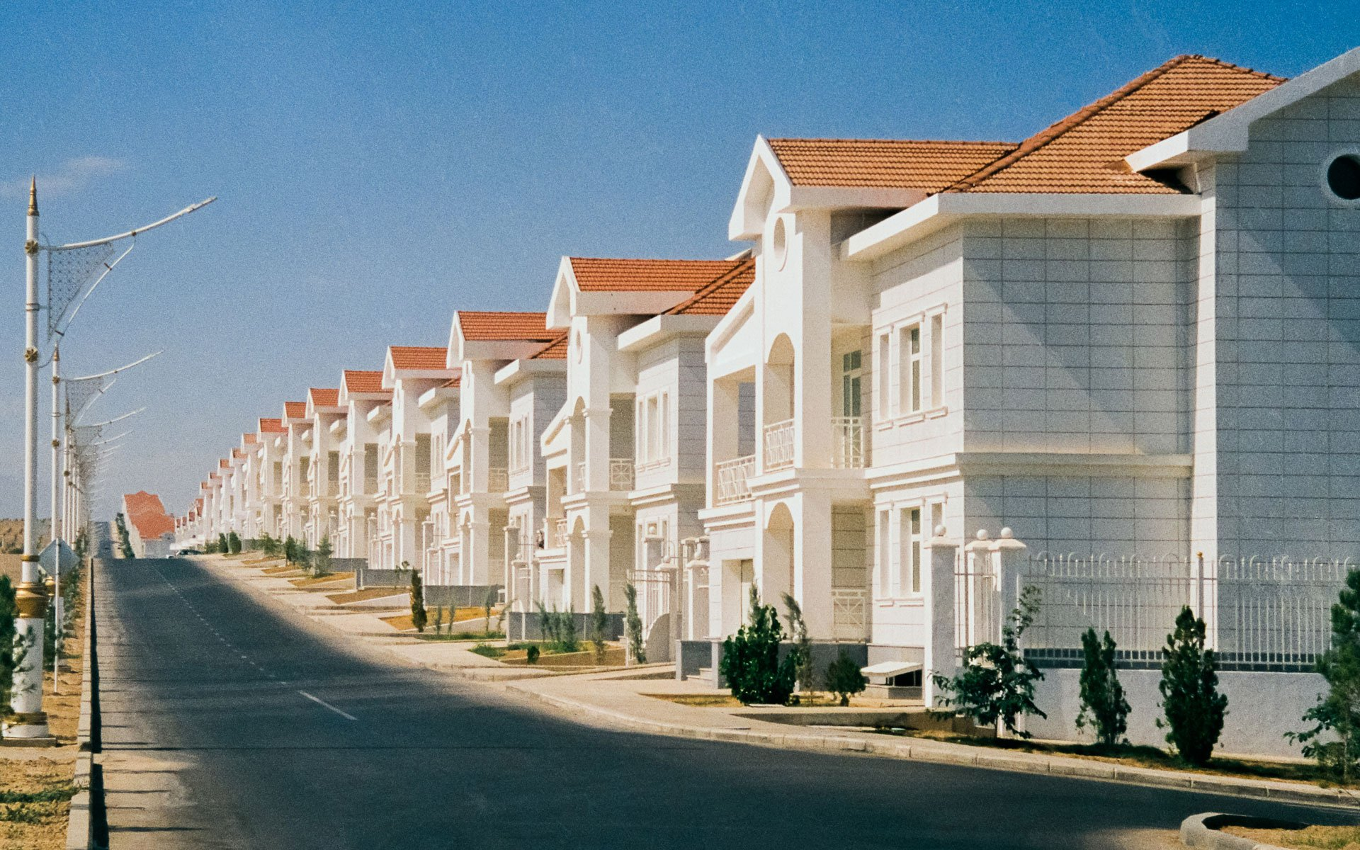 Inside the idyllic but deserted 'American' suburb on the edge of Ashgabat