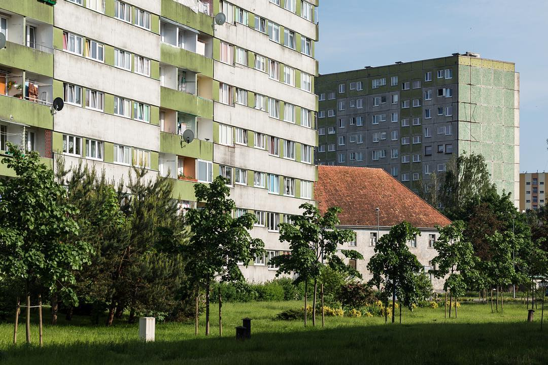 Discover the satisfying simplicity of Poland's housing blocks