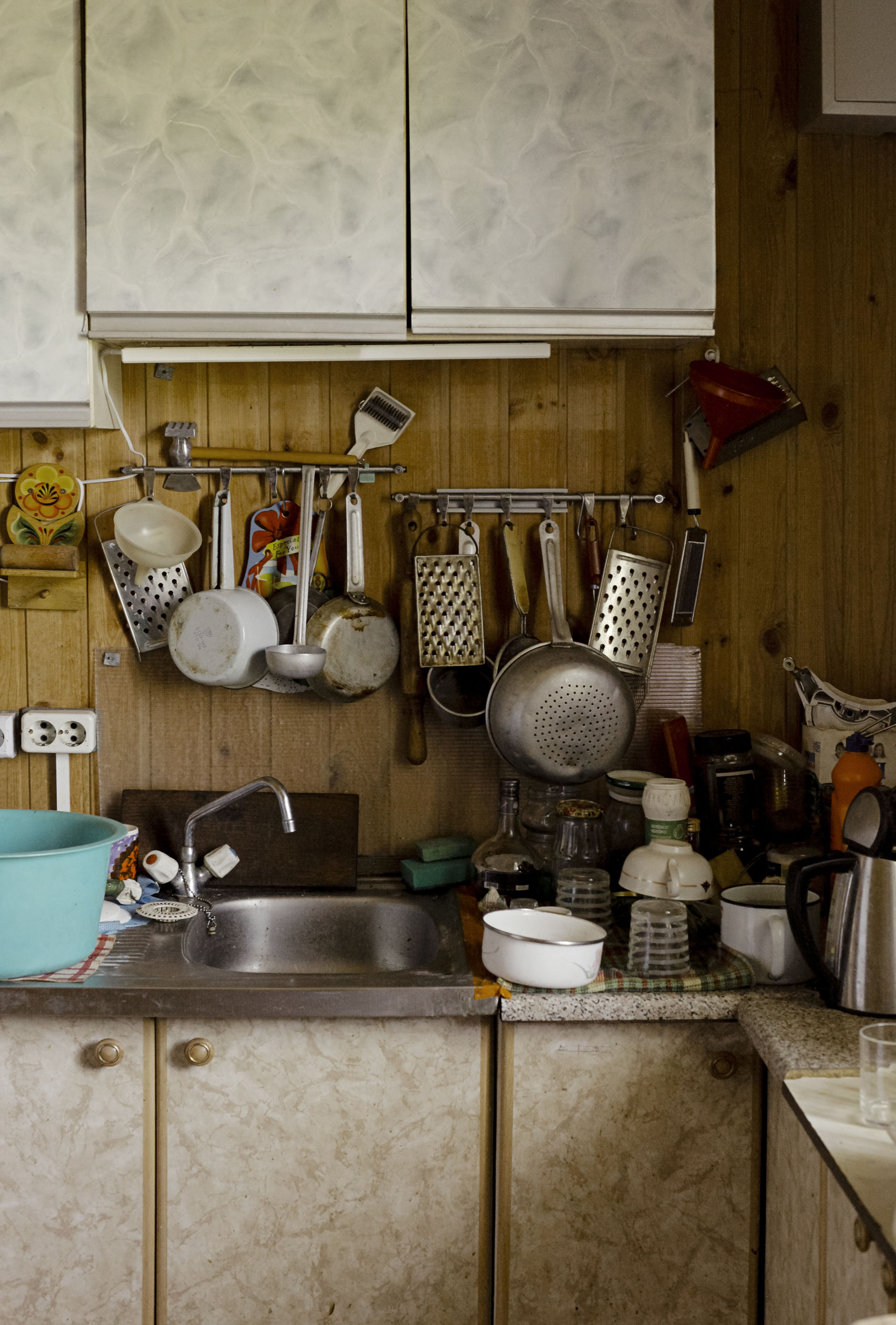 Kitchen of a former cosmonaut's summer home in Russia