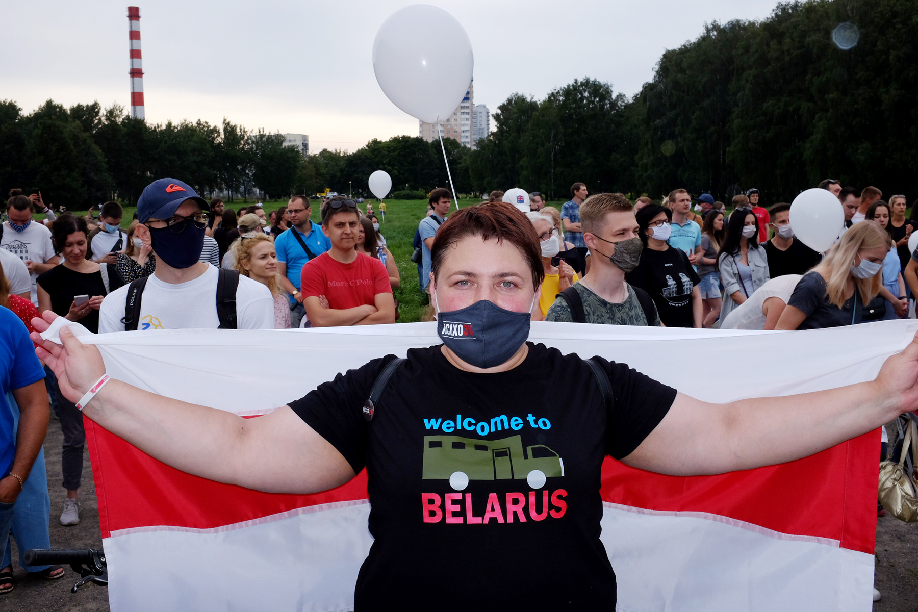 Image: Lesia Pcholka, from the first weeks of the protest
