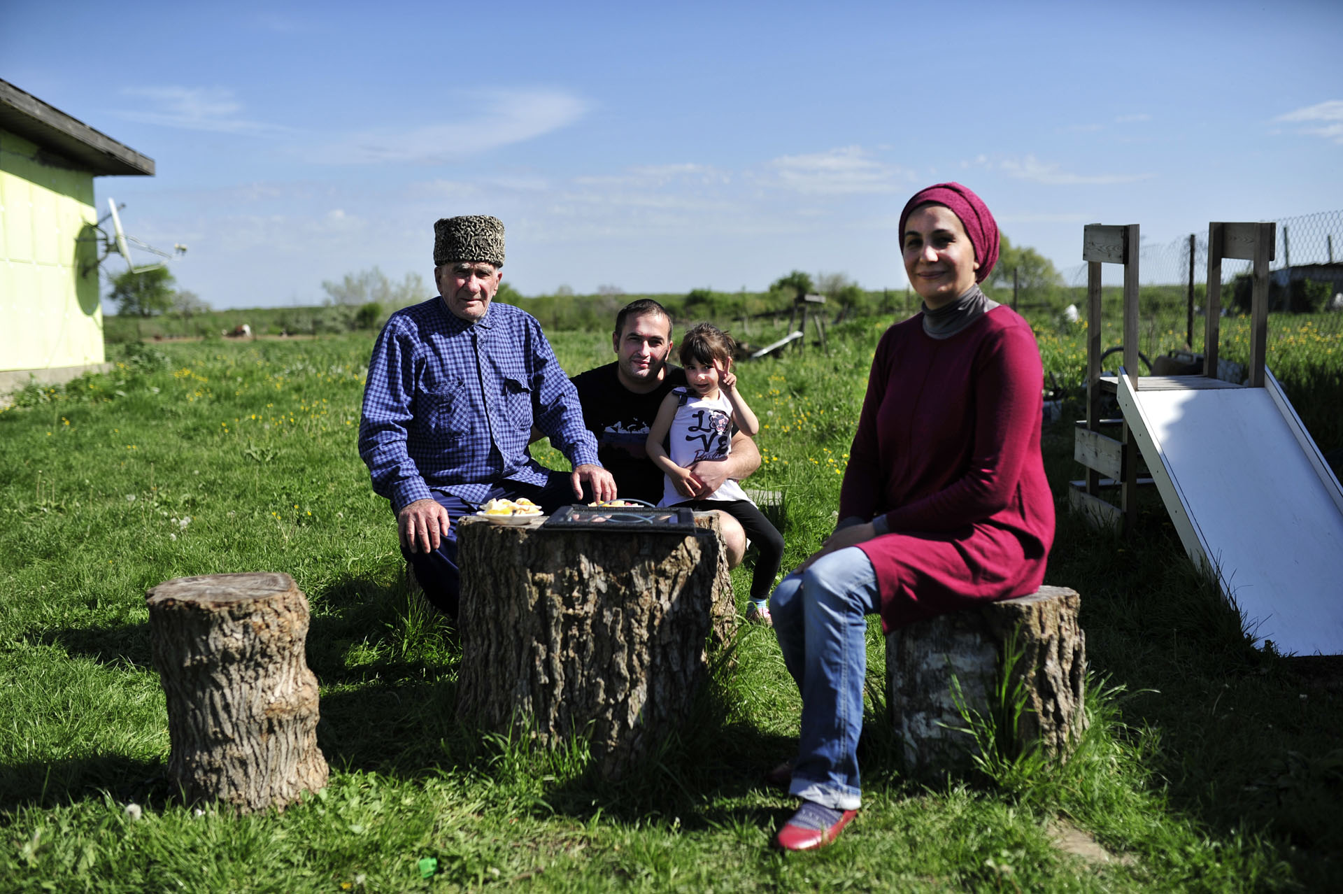A community of Circassian Syrian refugees