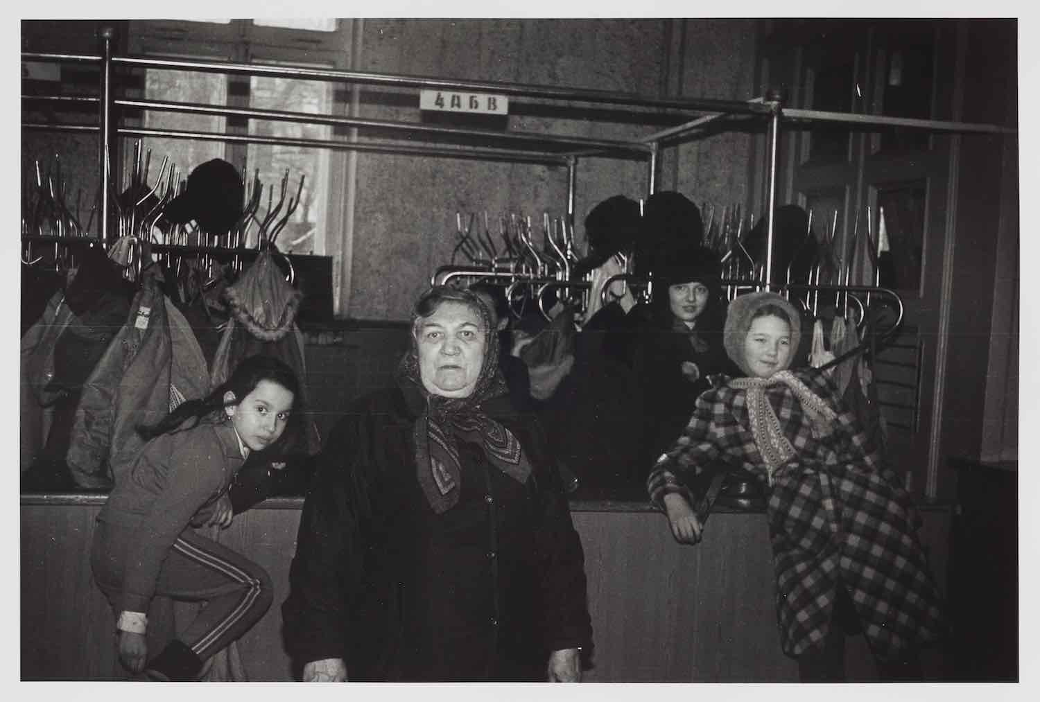 Coat Check, a photograph made by the artist's grandmother, Olga Zinovievna Kantarovskaya, from 1957 to 1991. Courtesy of the artist and Luhring Augustine, New York.