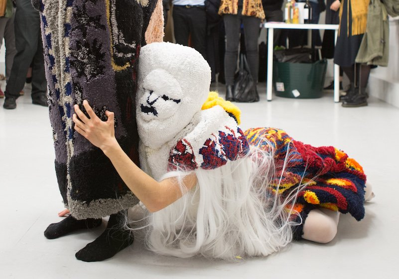 Step into the outlandish world of wearable carpet sculptures, where Slavic mythical characters come alive