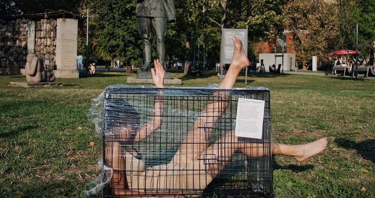 'Argue with me': the Russian artist taking to the streets to break cycles of violence