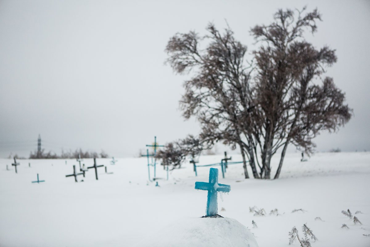 A cemetery for killed gulag prisoners