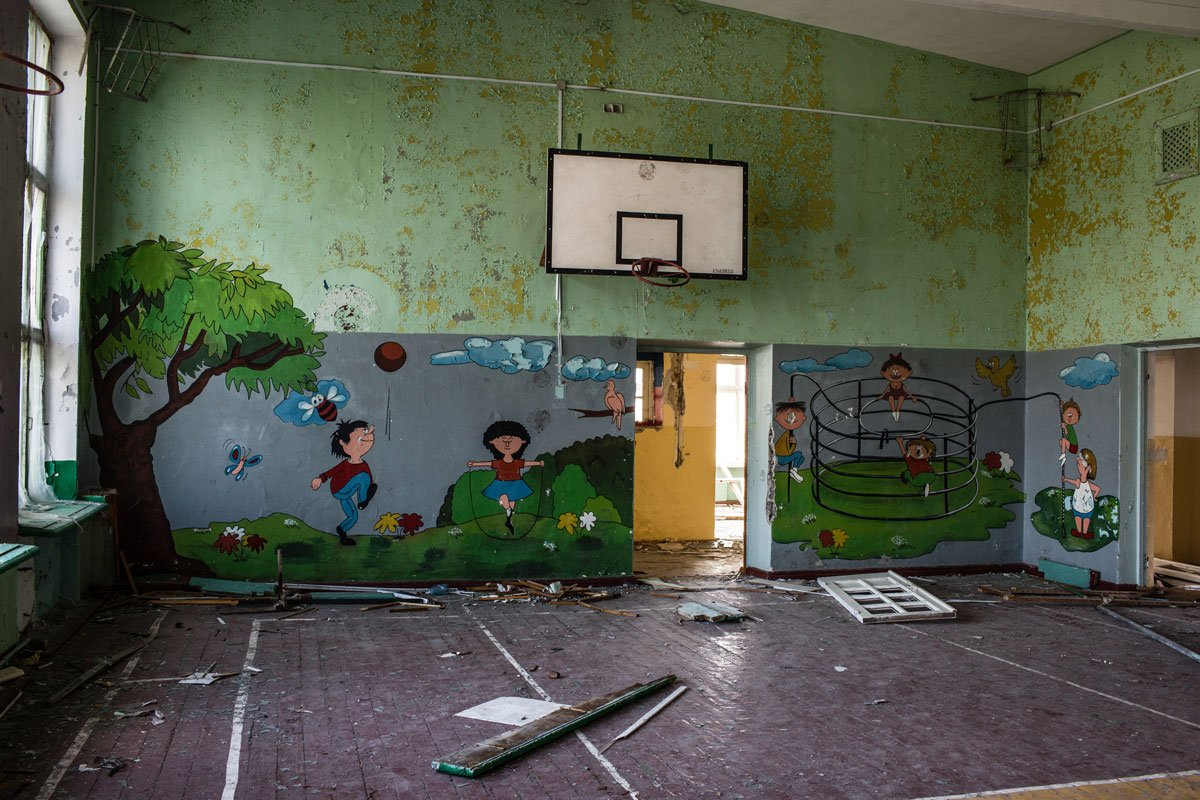 An abandoned school