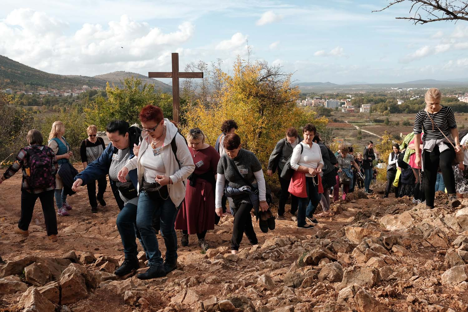 The path towards Apparition Hill in Medjugorje, November 2019.