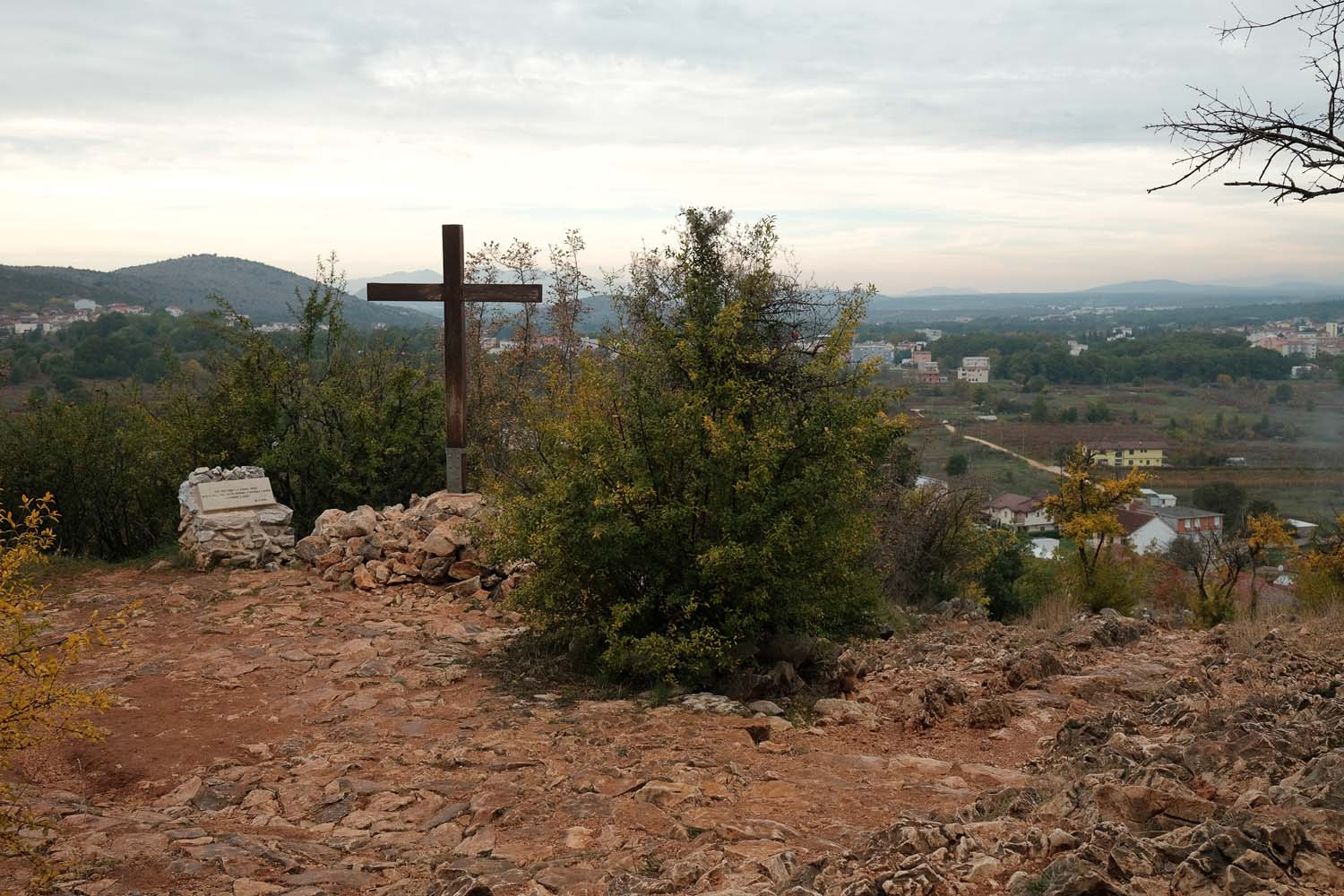 The path towards Apparition Hill in Medjugorje, November 2020.