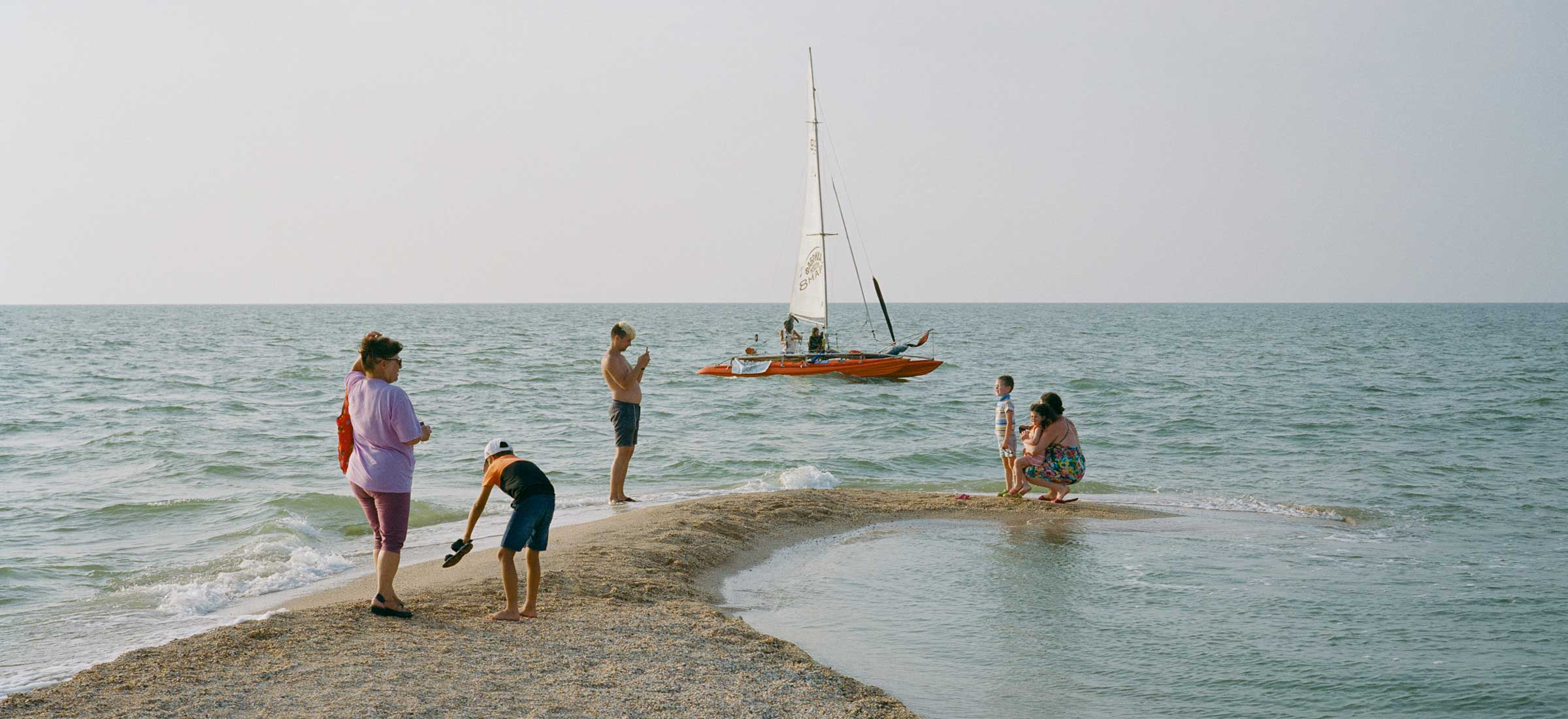 A golden-hued escape to summer evenings by the Sea of Azov