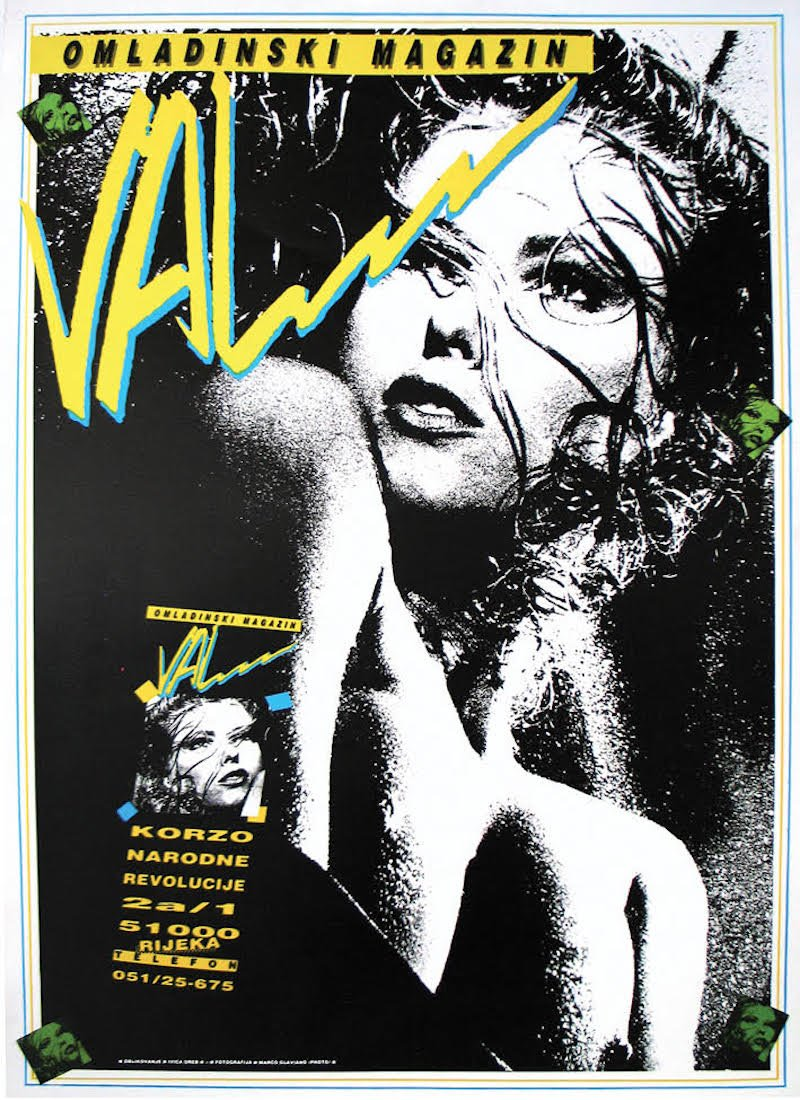 A poster from a 1987 issue of Val, designed by Ivica Oreb