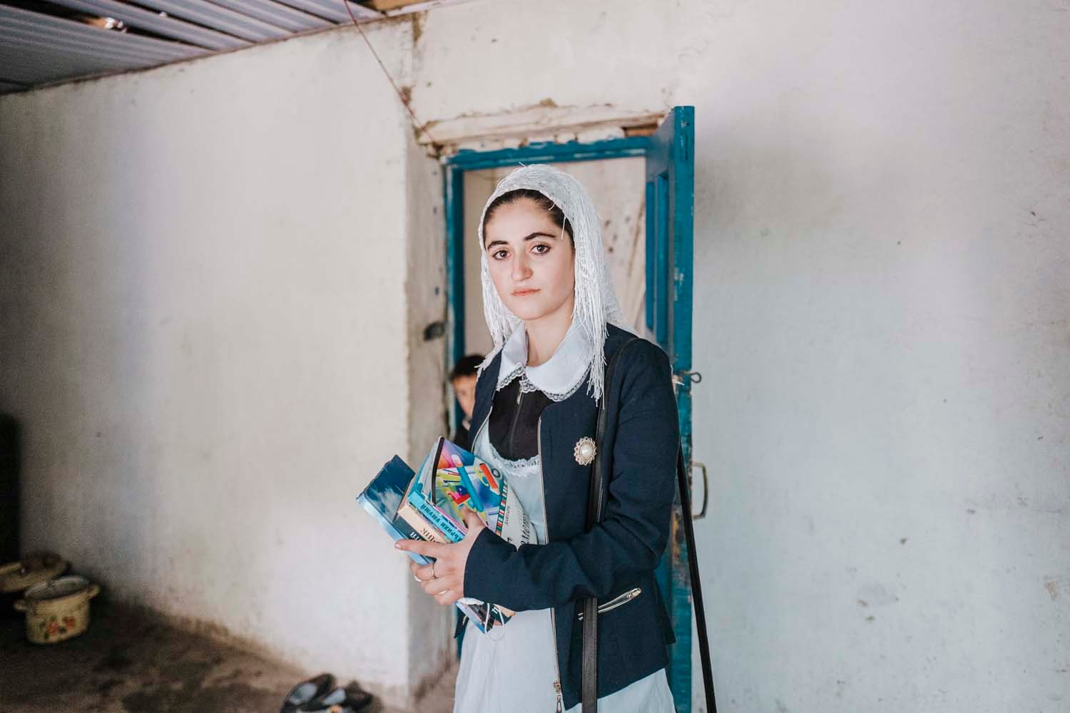 A student in the Pamir mountains