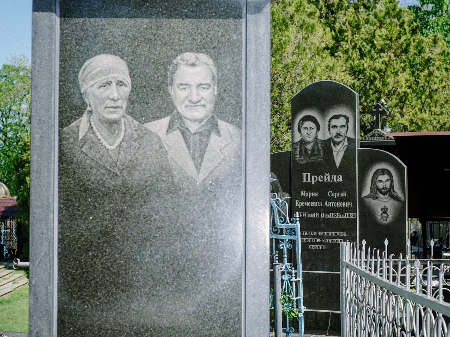 Roma graves in Soroca usually have hyperrealist pictures of the buried