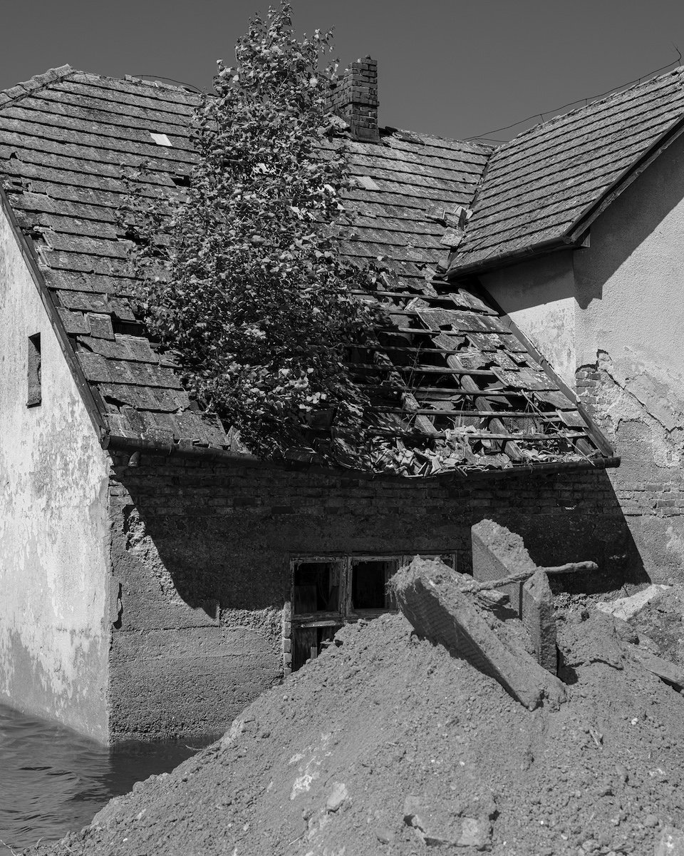 Sometimes the ground drops so much that the buildings are flooded by groundwater