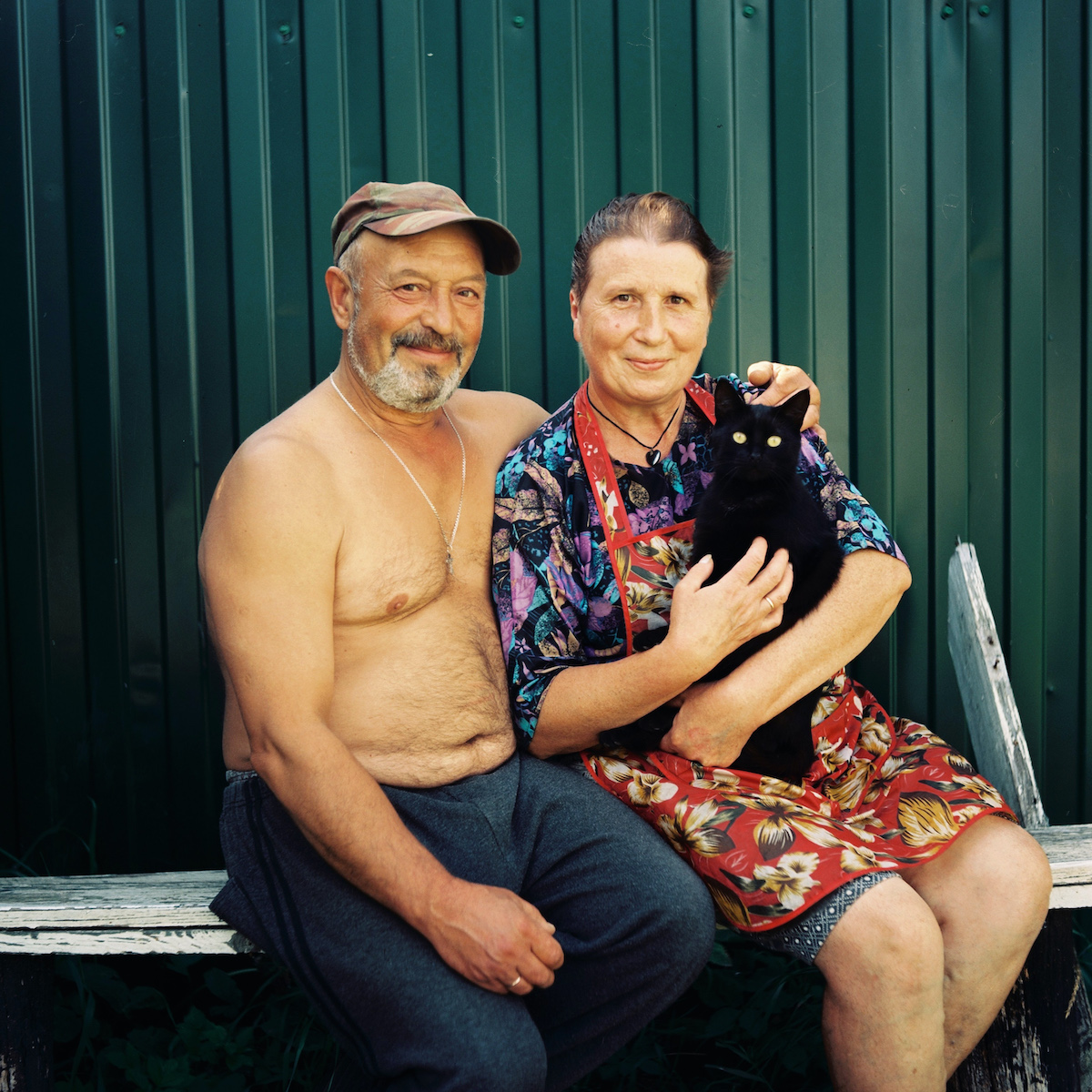 Yury and Galina, retired farmers