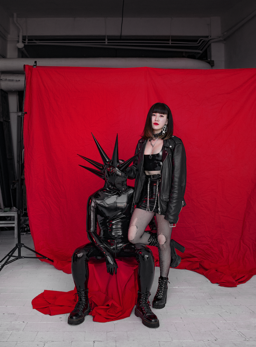 <p><span>This portrait is of Moscow-based designer Dahliia Kurmanguzhina of Tiger Forgives. and her partner, who goes under the alias of Blackeyedalien. They are both part of a new wave within Russia's kink and fetish community that is committed to exploring creativity, gender and sexuality as part of their lifestyle. Photographer Ivan Ivanov documented the couple in their favourite latex outfits. <br>  </span></p>