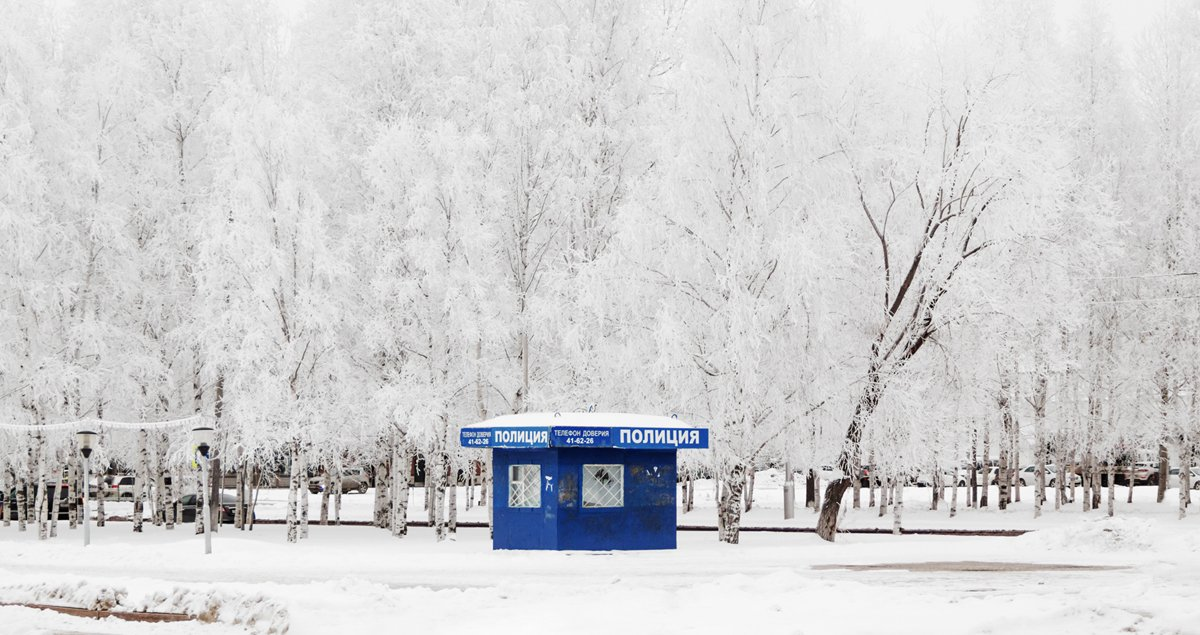 Siberia-based photographer Roma Gostev captures the snow-coated serenity of his city Nizhnevartovsk