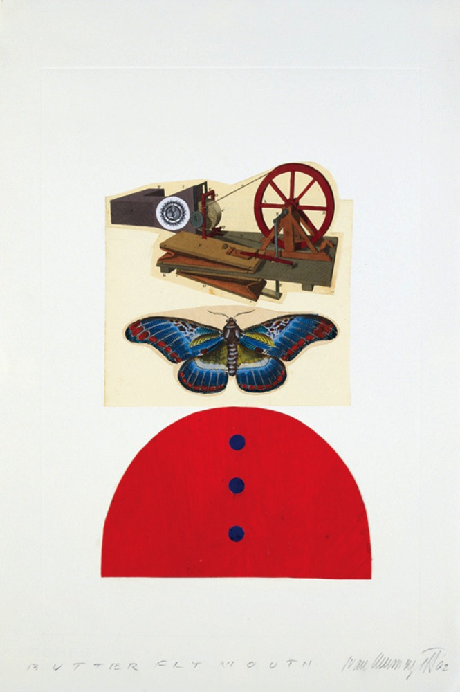 Butterfly Mouth, collage 2002