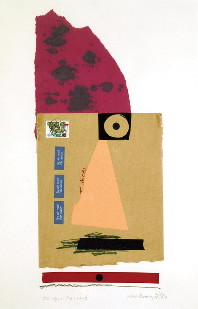 One-Eyed Peasant, silkscreen, 1991