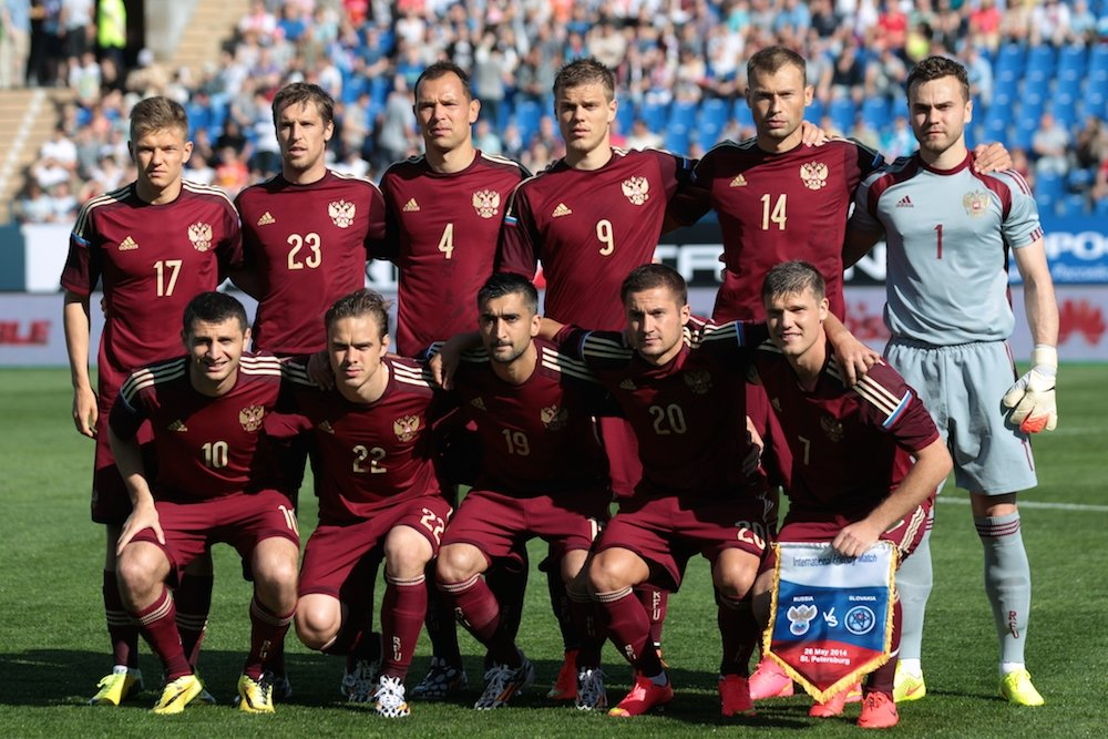 Russia national football team. Photograph: RIA Novosti