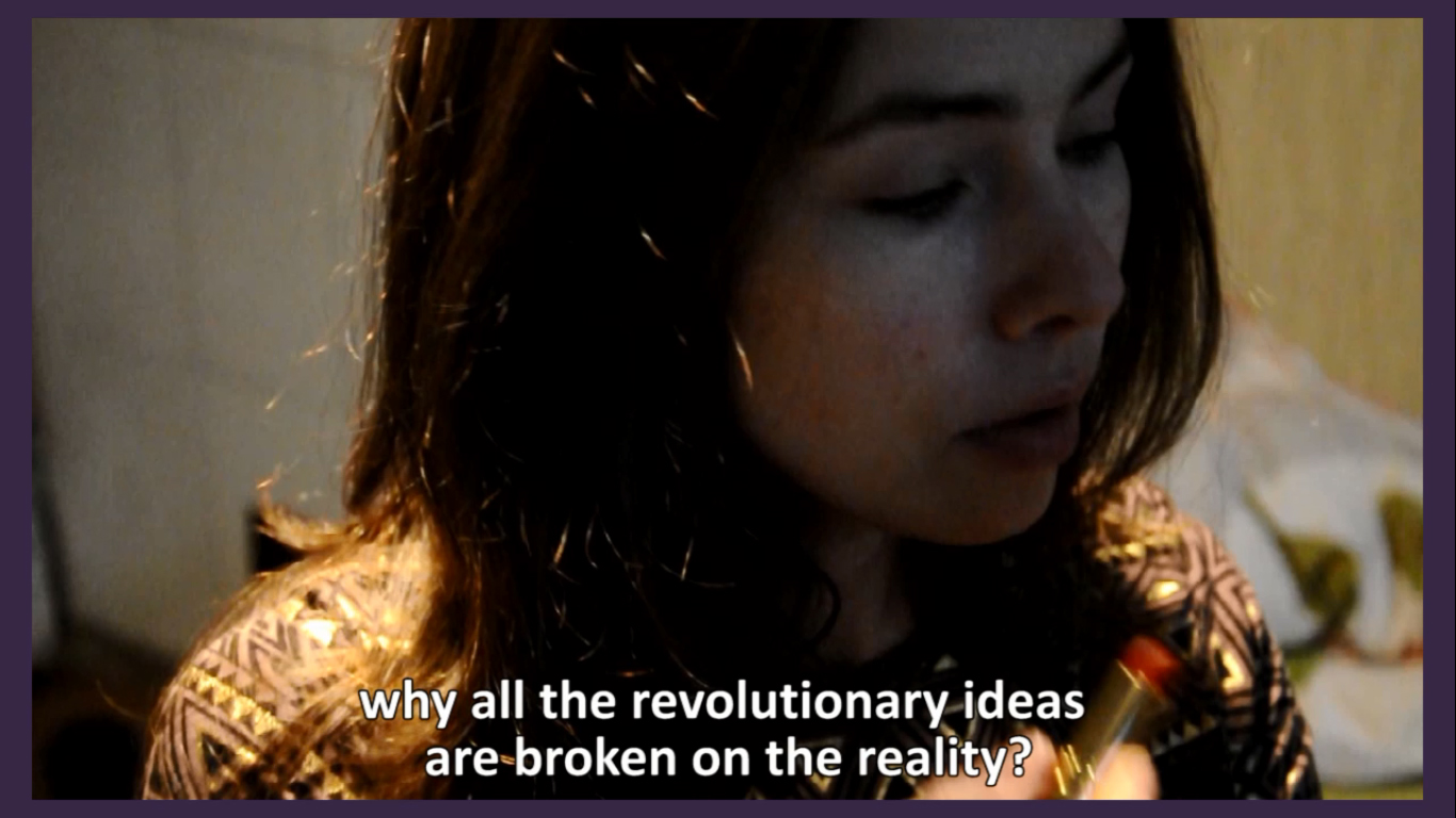 Still from the video We, the Militant Radfem Gang Named after Valerie-Andrea Dworkin-Solanas, 2016