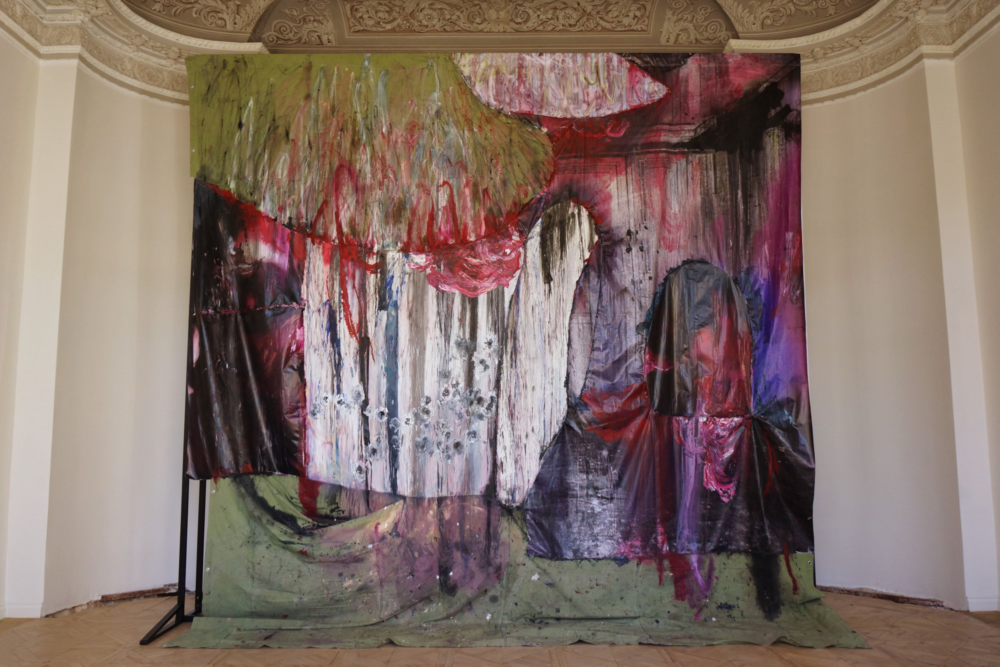Ipatyev's Room, 2019. From the personal show Red Garden at the Szena gallery, Moscow