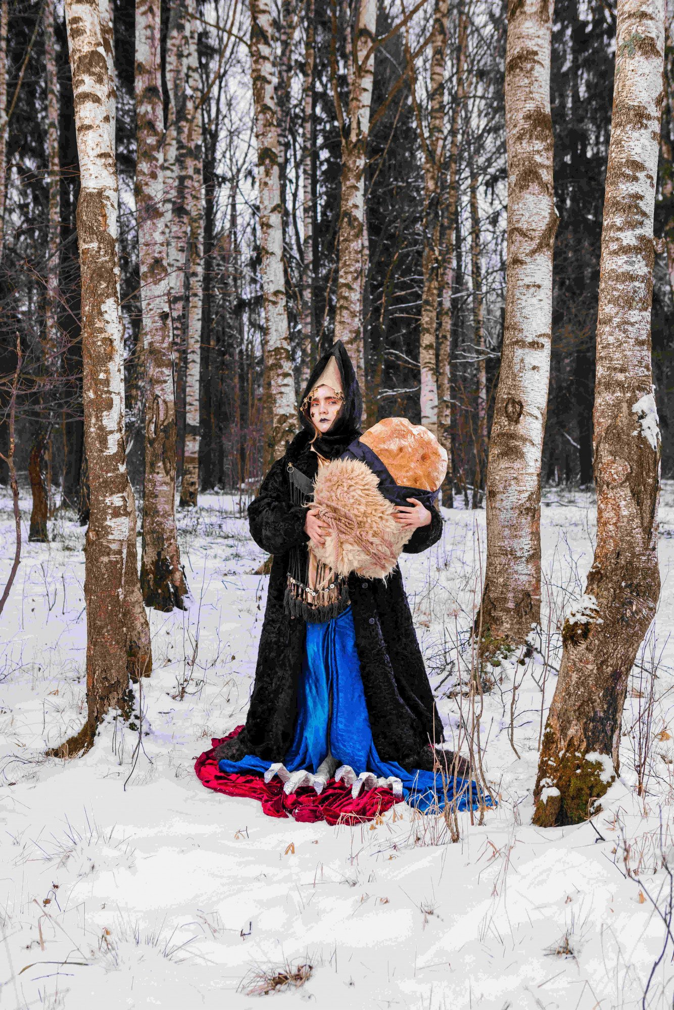 Let Be What Cannot Be, 2020. Photo series for the Dialogue of Arts magazine of Moscow Museum of Modern Art. In this series, the artist works with inner mythology based on scary fairy tales of the Arkhangelsk region. Photo: Pavel Smirnov