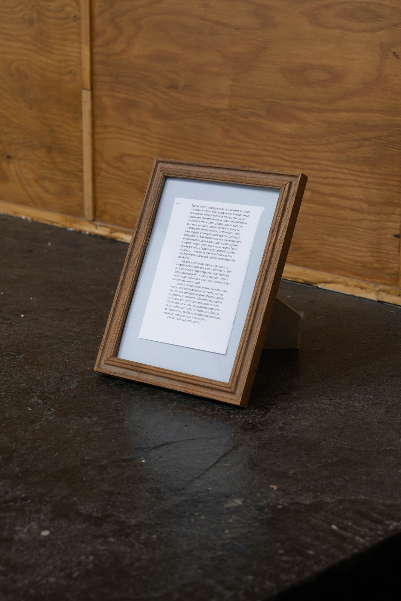 """""""Being in love brings both life and danger to the illustration."""" The Unshockheaded Doubles Boredom…, 2020. The framed text describes different ways in which writing and illustration can coexist"""