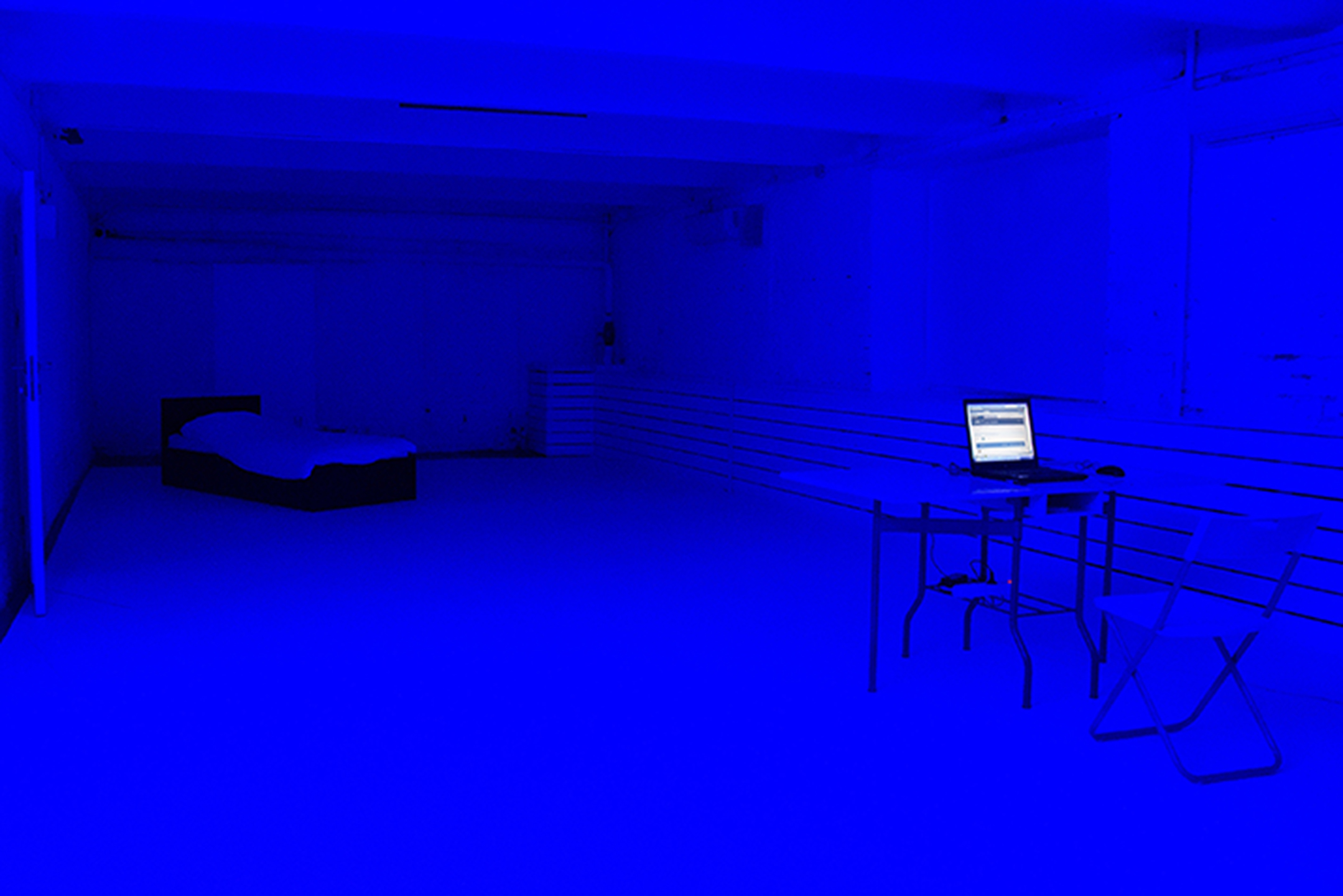 Iceberg-18010813. Blue Room, constructed situation. Curated by Ivan Isaev, Moscow, Russia, 2018