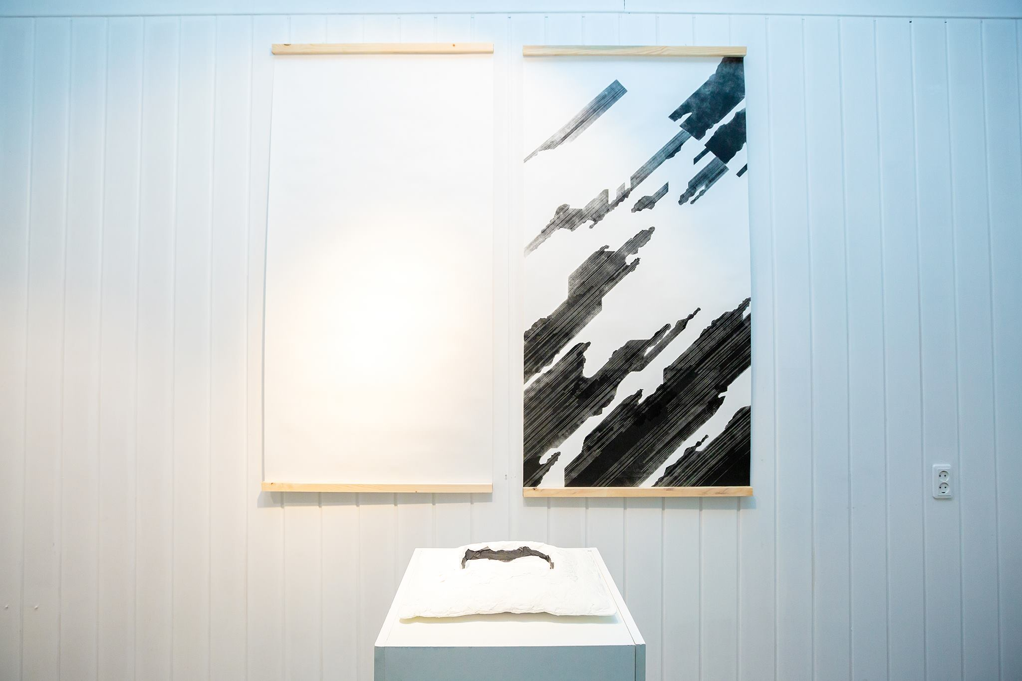 Snowiness, 2018. The works are based on the materials of the artist's journey around Hokkaido