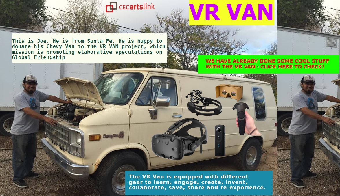The Virtual Reality Van was a mobile discussion platform that existed in both physical and virtual space. The core activity of the VR Van were Global Friendship Workshops—speculative discussions aimed to envision future's common sense using VR technologies
