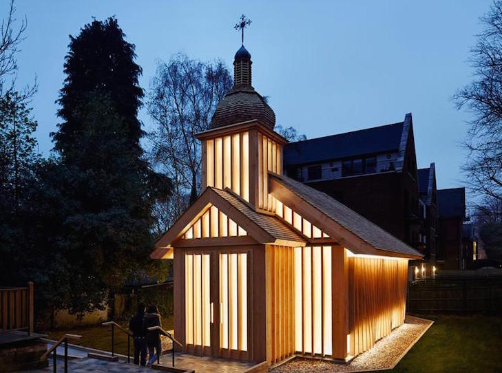 London's wooden Belarusian chapel commemorates Chernobyl victims