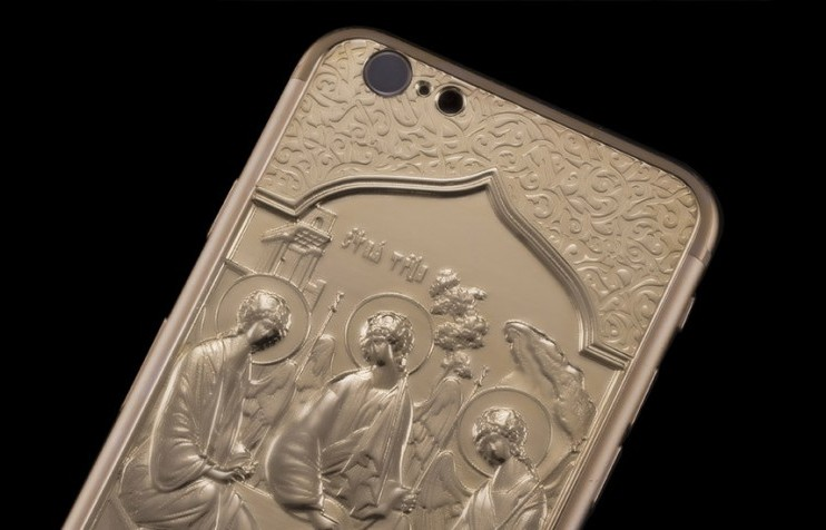 Gold-plated iPhone 6 edition released featuring Andrei Rublev's Holy Trinity