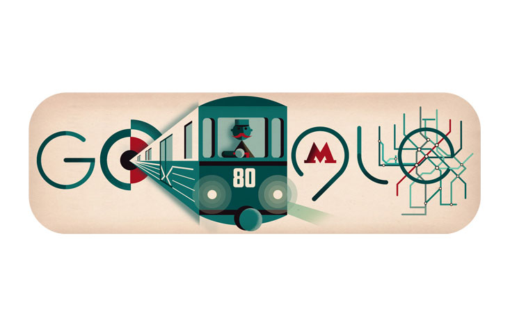 Google celebrates 80th anniversary of Moscow metro with special Doodle
