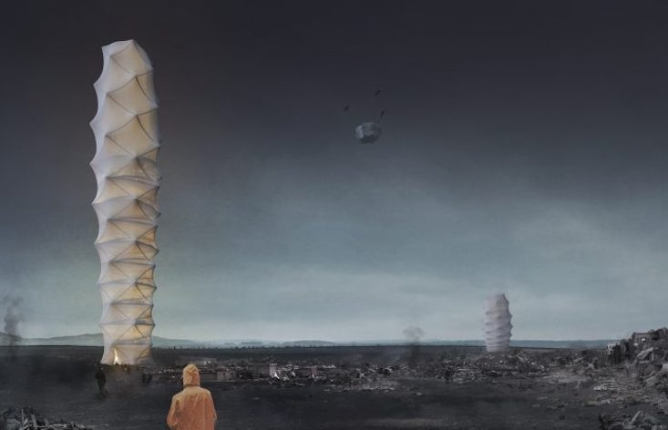 Skyshelter.Zip: Polish architects win global award for folding skyscraper