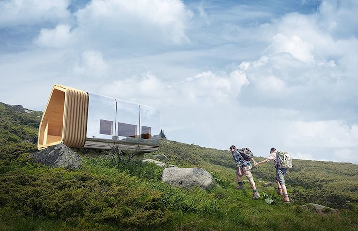 Bulgaria unveils new high-tech mountain shelter that transforms into a beacon